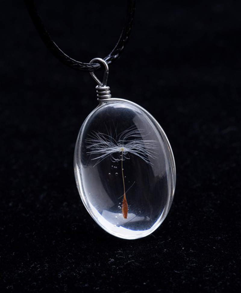 Dandelion Kristal Cam Kolye