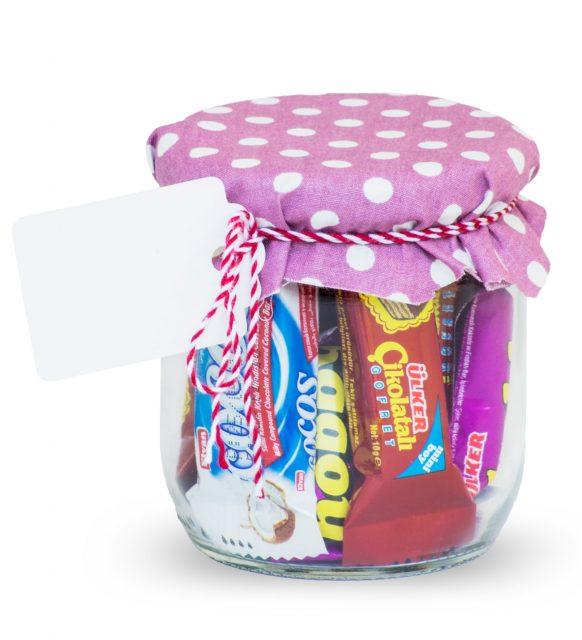 Süslü Çikolata Kavanozu (Etiketli)